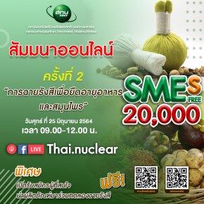 สทน.จัดสัมมนาออนไลน์ เชิญชวน SME เข้าร่วมโครงการคูปองยกระดับผลิตภัณฑ์ ด้วยนวัตกรรมฉายรังสี