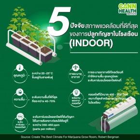 5 ปัจจัยสภาพแวดล้อมที่ดีที่สุดของการปลุกกัญชาในโรงเรือน (INDOOR)