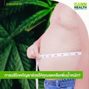การบริโภคกัญชาช่วยให้คุณลดหรือเพิ่มน้ำหนัก?