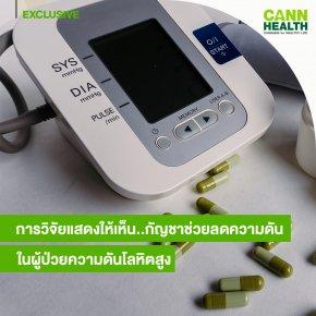 การวิจัยแสดงให้เห็น..กัญชาช่วยลดความดันในผู้ป่วยความดันโลหิตสูง