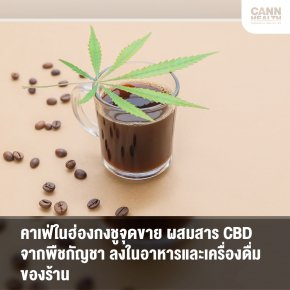 คาเฟ่ในฮ่องกงชูจุดขาย ผสมสาร CBD จากพืชกัญชา ลงในอาหารและเครื่องดื่มของร้าน