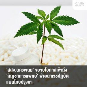 'สสจ.นครพนม'ขยายโอกาสเข้าถึง'กัญชาการแพทย์' พัฒนาเวชปฏิบัติแผนไทยปรุงยา