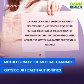 Mothers rally for medical cannabis outside UK Health Authorities