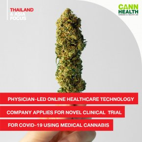 Physician-led Online Healthcare Technology Company Applies for Novel Clinical Trial for COVID-19 Using Medical Cannabis
