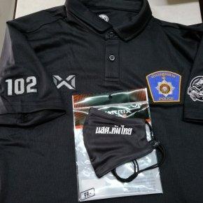 ตำรวจภูธร ภาค1  รุ่น 102 เสื้อโปโลปักเพิ่ม 4  จุด