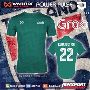 เสื้อ GRAB warrix wa1569 สีเขียว