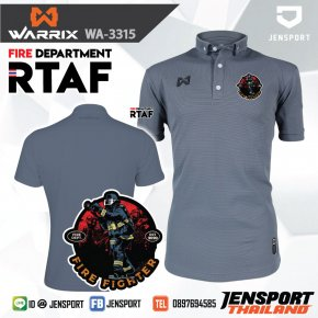 POLO WARRIX WA3315 GRAY FIRE DEPARTMENT RATF (ROYAL THAI AIRFORCE)