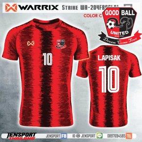 GOODBALL UNITED - WARRIX WA204 STRIKE เสื้อทีมสุดสวยสีแดง พร้อมให้บริการทุกท่านครับ