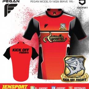 เสื้อ PEGAN รุ่น BRAVE สีแดง ทีม kick off friday