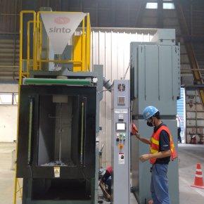 Shot blast machine Delivery&Installation