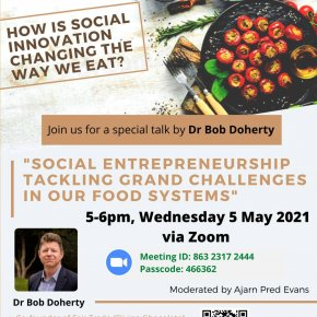 """SPD Public Seminar, 5 May, 2021: """"Social Entrepreneurship Tackling Grand Challenges in our Food System"""""""