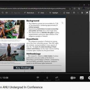 Tawanrat's Presentation ANU Undergrad In Conference