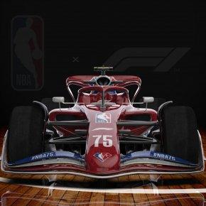เอ็นบีเอ จับมือ ฟอร์มูล่าวัน ฉลอง 75 ปี NBA และ F1