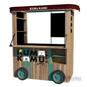 Design, manufacture and installation of stores: Kiosk KUMA KAMU, Bang Yai, Nonthaburi (New Model)