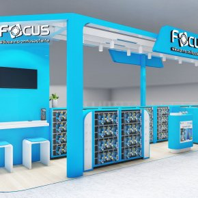Design, manufacture and installation of stores: Focus Shop, The Mall Bangkapi, Bangkok.