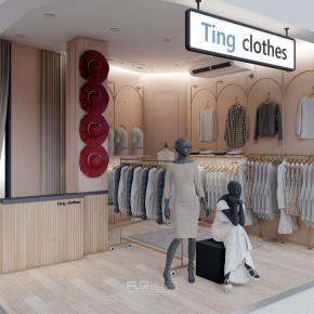 Design, manufacture and installation of stores: Ting Closet Lotus, Bang Bua Thong