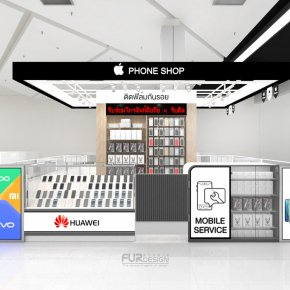 Design, manufacture and installation of stores: iPhone Shop, Robinson Department Store, Sakon Nakhon