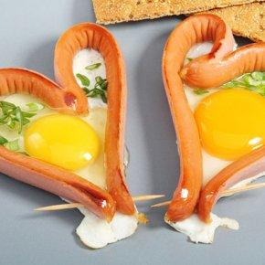 ไข่ดาวไส้กรอก