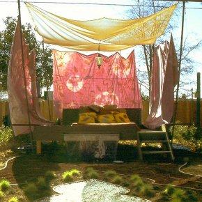 ไอเดียบังแดดให้สวน คลายร้อน นั่งนอนสบาย