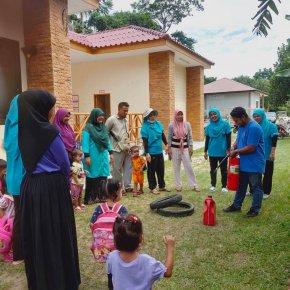 จัดโครงการซักซ้อมอัคคีภัยภายในศูนย์พัฒนาเด็กเล็กนูรุลฮูดา