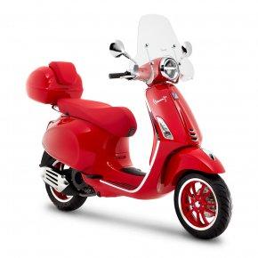 VESPA PRIMAVERA-RED สกู๊ตเตอร์พรีเมี่ยมสีแดง สัญลักษณ์แห่งความรักสุดพิเศษ