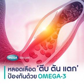 หลอดเลือด 'ตีบ ตัน แตก' ป้องกันด้วย Omega-3 จากน้ำมันปลา