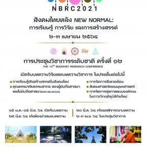 """การประชุมวิชาการระดับชาติ ครั้งที่ 12: """"สังคมไทยหลัง NEW NORMAL : การเรียนรู้ การวิจัย และการสร้างสรรค์"""