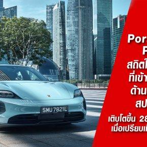 สถิติของ Porsche Asia Pacific ในไตรมาสแรกที่เข้าใกล้เป้าหมายด้านยนตรกรรมสปอร์ตไฟฟ้า เติบโตขึ้น 28% ในไตรมาสแรก เมื่อเปรียบเทียบกับปีที่ผ่านมา