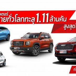 เกรท วอลล์ มอเตอร์ โกยยอดขายทั่วโลก ทะลุ 1.11 ล้านคัน  สูงที่สุดในรอบ 30 ปี เสริมทัพความเชื่อมั่นก่อนบุกตลาดไทยปีนี้