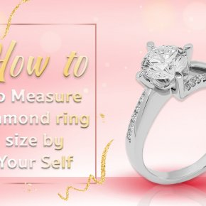 How to do measure diamond ring size by yourself.
