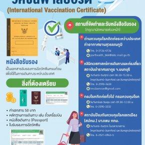 """ขั้นตอนการทำ """"วัคซีนพาสปอร์ต"""" (International Vaccination Certificate)"""