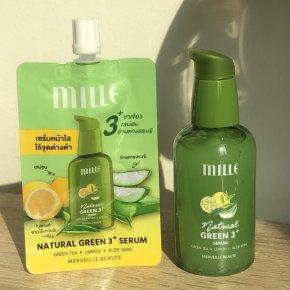 ใครมีปัญหาเรื่อง สิว แนะนำตัวนี้เลย natural green 3+ serum
