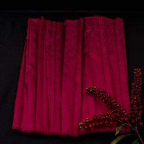 สไบรอง ผ้าไหมอัดพลีท เฉดสี แดง