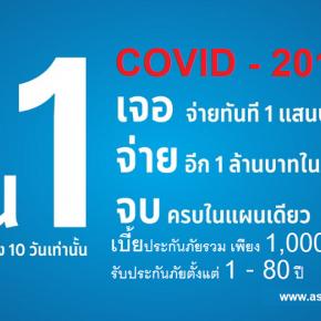 ประกันภัยไวรัสโคโรนา (COVID-19) แผนยืนหนึ่ง