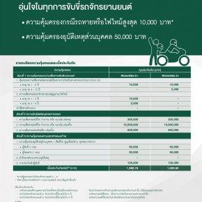 ประกันภัยรถจักรยานยนต์ 2+ 3+ Thaisri