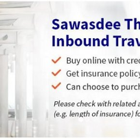 Sawasdee Thailand Inbound Travel Accident Insurance Including Covid-19