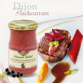 Beef Fillet with Carrots with Edmond Fallot Blackcurrant Dijon Mustard