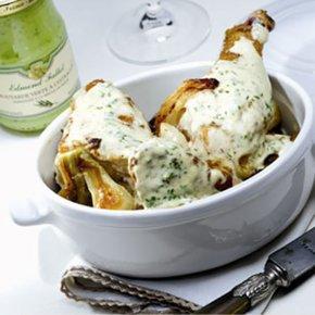 Chicken Fricassee with Edmond Fallot Tarragon Dijon Mustard