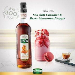 """Sea Salt Caramel & Berry Macaroon Frappe"" Milkshake"