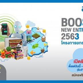 โครงการยกระดับธุรกิจเริ่มต้น (Boost up New Entrepreneurs) 2563