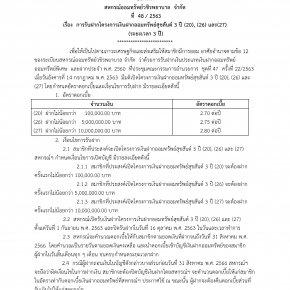การรับฝากโครงการเงินฝากออมทรัพย์สุขสันต์ 3 ปี (20), (26) และ(27) (ระยะเวลา 3 ปี)