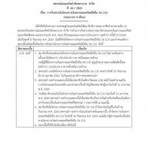 การรับฝากเงินโครงการเงินฝากออมทรัพย์ยั่งยืน 56 (13) (ระยะเวลา 4 เดือน)