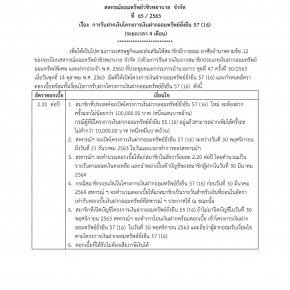 การรับฝากเงินโครงการเงินฝากออมทรัพย์ยั่งยืน 57 (16) (ระยะเวลา 4 เดือน)