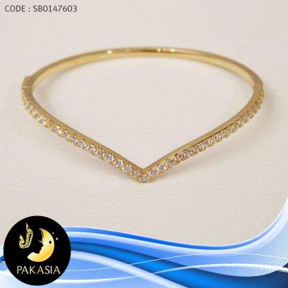 กำไล PAKASIA (เส้นผ่านศูนย์กลาง 6.2 cm.)[เงินชุบทอง]  / B386