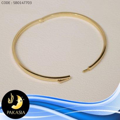 กำไล PAKASIA (เส้นผ่านศูนย์กลาง 6.3 cm.)[เงินชุบทอง] / B389