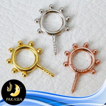 อะไหล่ตัวเรือนจี้ Sunrise ห้อยไข่มุก เส้นผ่านศูนย์กลาง(ขอบด้านใน) ขนาด 4.8 mm ตัวเรือนเงินแท้ 92.5 มีให้เลือก 3 สี คือ สีทอง สีทองคำขาว และสี Pink Gold
