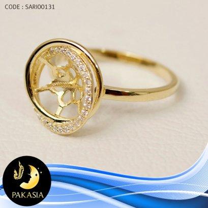 ตัวเรือนแหวน [เงินชุบทอง]  / SARI00131