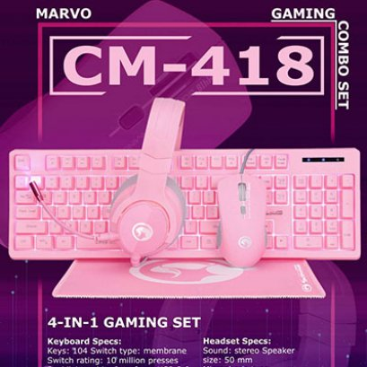 Keyboard + Headset CM-418
