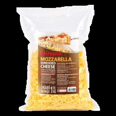 Mozzarella shreded cheese 1 kg. ( Dairy gold )