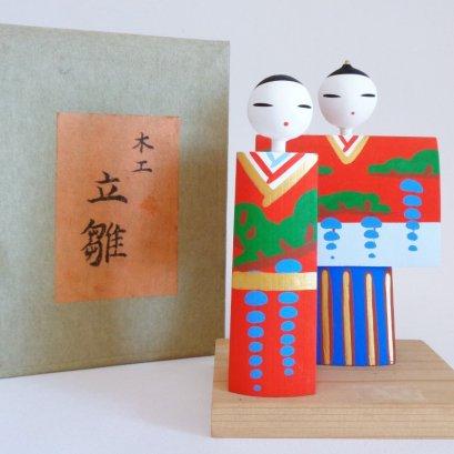 Japanese Hinamatsuri wooden Art Dolls-figures